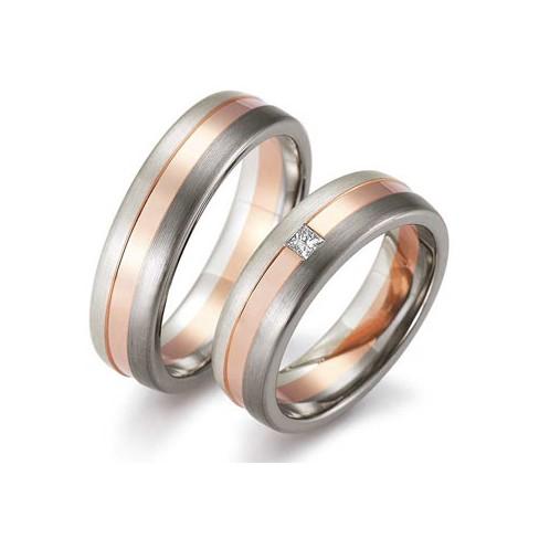 Alliance de mariage Palladium et Or rose - Boutique Alliance