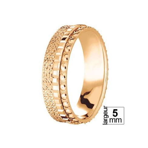 Alliance de mariage Or rose trois anneaux - Boutique Alliance