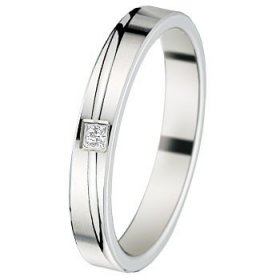 Alliance homme Diamant - Alliance Or blanc Diamant