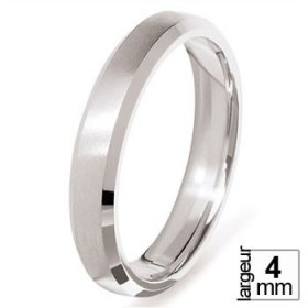 Alliance homme Platine - Alliance de mariage Platine confort 4 mm