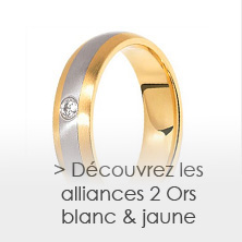 les alliances en Or blanc et Or jaune