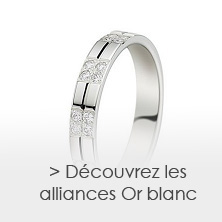 les alliances en Or blanc