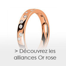 les alliances en Or rose